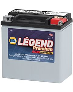 Battery - NAPA Power Sport - Legend Premium AGM 12 Volts 220 CCA
