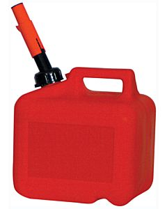 Gas Can, Spill Proof, 2 Gal. 8 Oz. Red Polyethylene