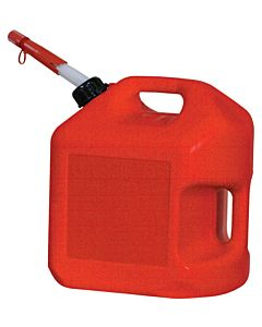 Gas Can, Spill Proof, 5 Gal. Red Polyethylene