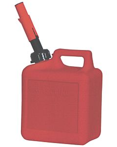 Gas Can, Spill Proof, 1 Gal. 4 Oz. Red Polyethylene