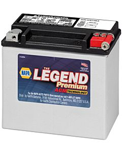 Battery - NAPA Power Sport - Legend Premium AGM 12 Volts 325 CCA