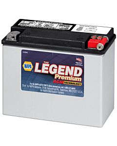 Battery - NAPA Power Sport - Legend Premium AGM 12 Volts 340 CCA
