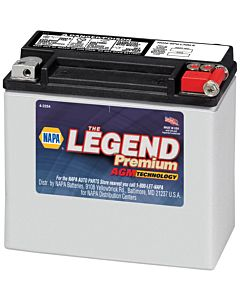 Battery - NAPA Power Sport - Legend Premium AGM 12 Volts 310 CCA