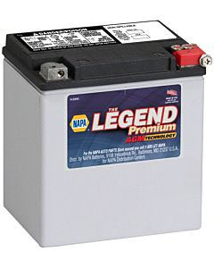Battery - NAPA Power Sport - Legend Premium AGM 12 Volts 400 CCA