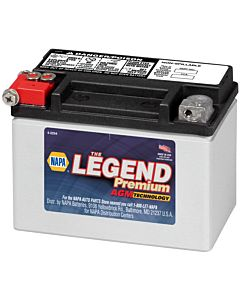 Battery - NAPA Power Sport - Legend Premium AGM 12 Volts 120 CCA